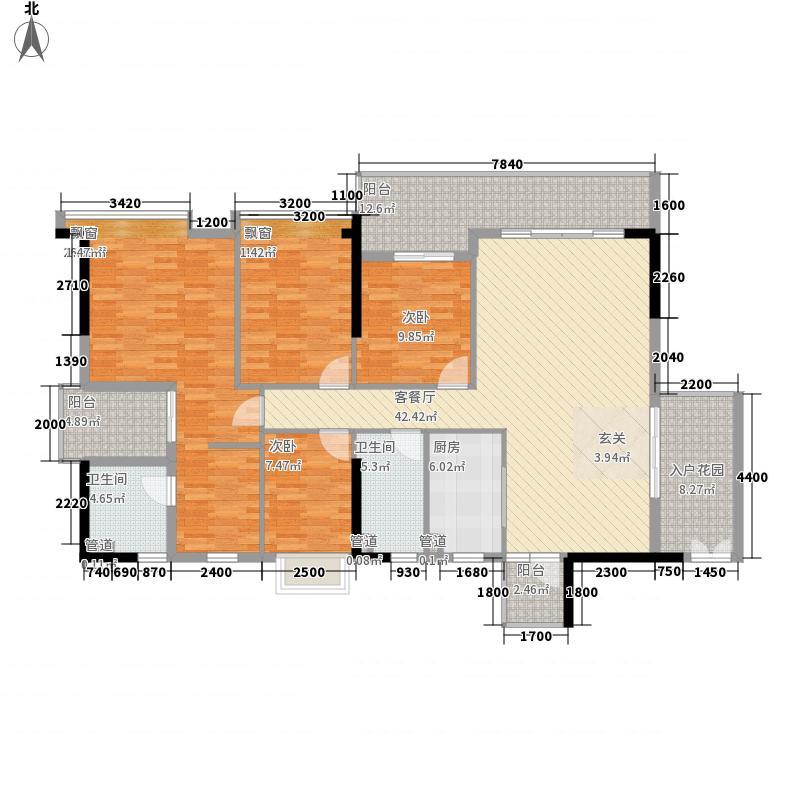 东盛名苑163.70㎡13座01户型4室2厅2卫1厨