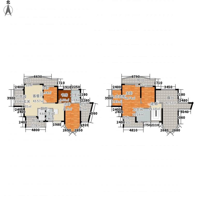 光大皇庭世家3272.20㎡高层3栋F2复式户型6室2厅3卫
