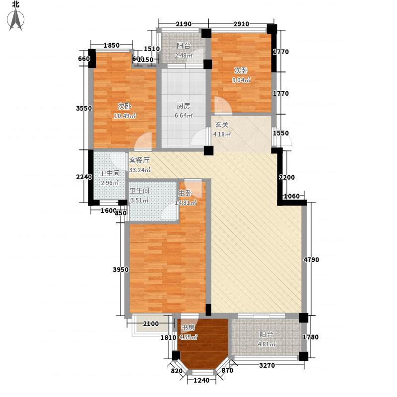 学府・雅居14.77㎡B户型2室2厅2卫1厨