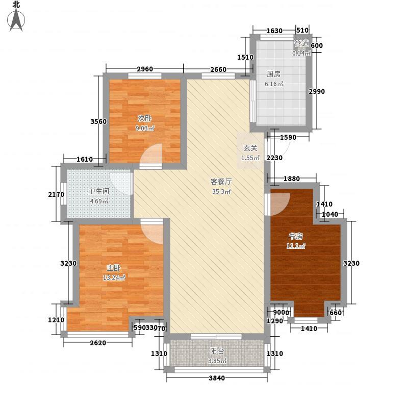 渤海・青青家园12.00㎡C1户型3室2厅1卫1厨