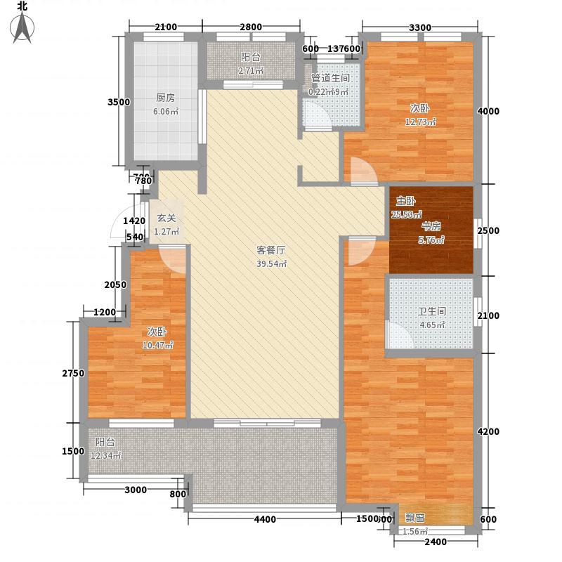 金地御景14.33㎡B2户型4室2厅2卫1厨