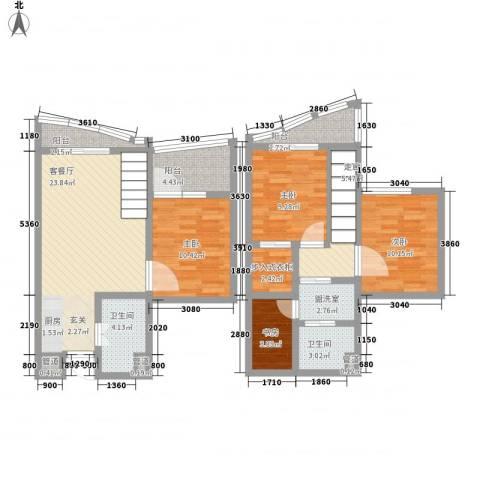 洱海国际生态城4室2厅2卫0厨85.39㎡户型图