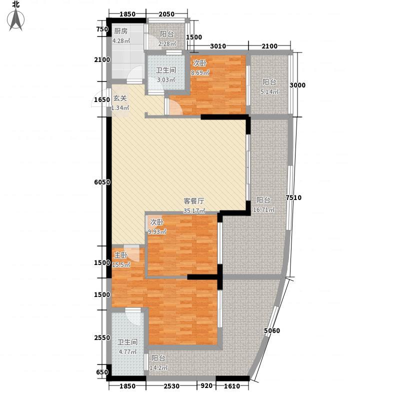 中国・金州体育城4.20㎡A4组团6#楼1-5、2-5户型3室1厅1卫1厨