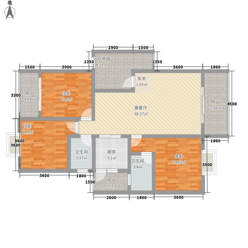 红地一米阳光106.00㎡红地一米阳光一米阳光E-1户型图3室2厅2卫1厨106.00㎡户型3室2厅2卫1厨