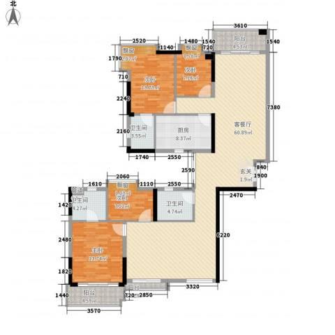 滨江瑞城4室1厅3卫1厨188.00㎡户型图