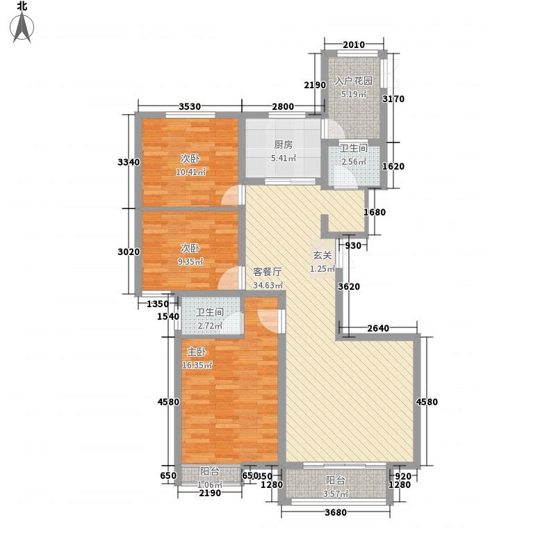 安阳义乌商贸城二期132.00㎡住宅D4户型3室2厅2卫1厨