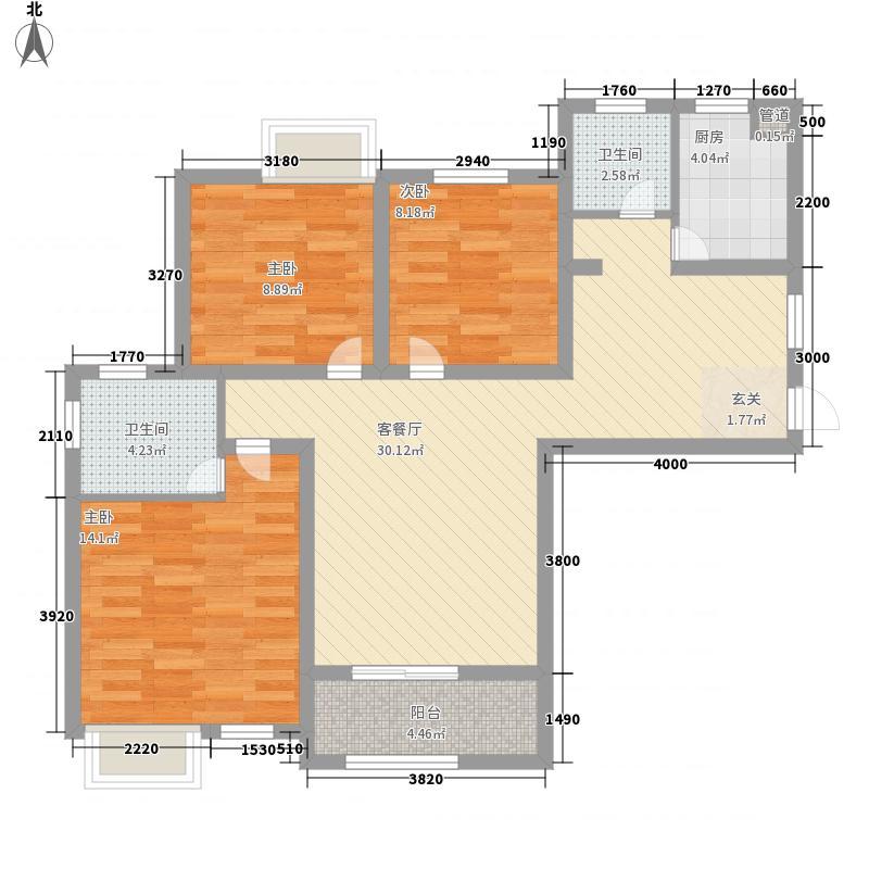 金方・丽水园111.25㎡户型3室2厅2卫1厨