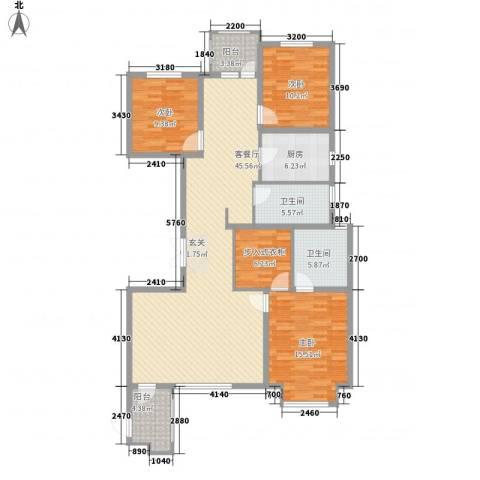 华鼎泰富公馆3室1厅2卫1厨127.00㎡户型图