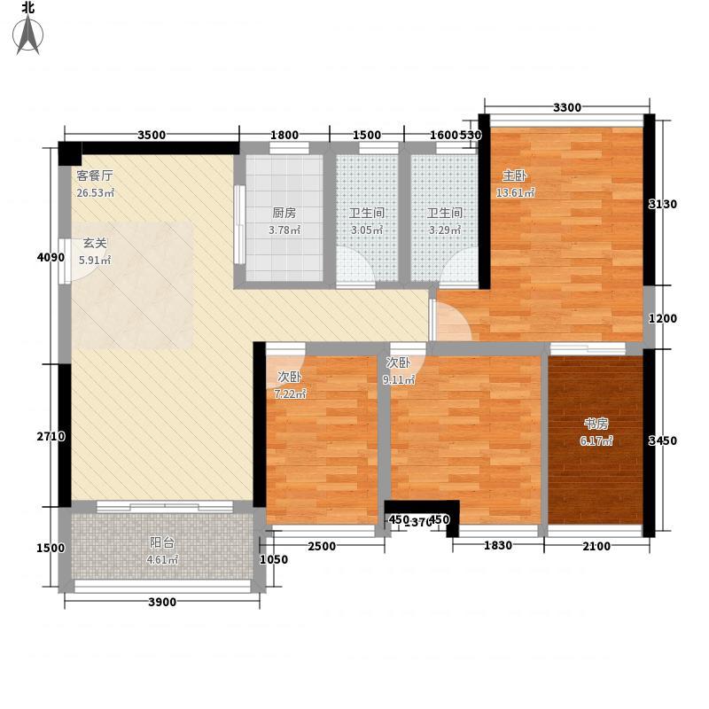 鸿翠阁3.14㎡1栋0户型4室2厅2卫1厨
