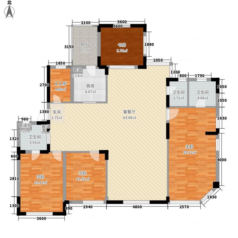 黄海城市花园187.50㎡户型4室2厅3卫1厨