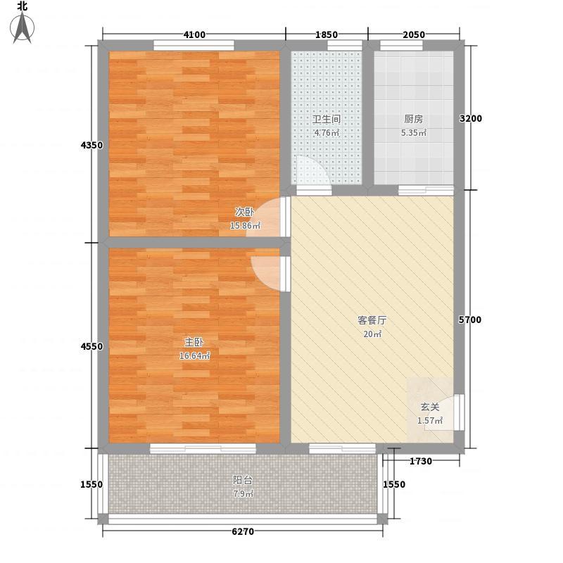 中联国际广场6.72㎡A户型2室1厅1卫1厨