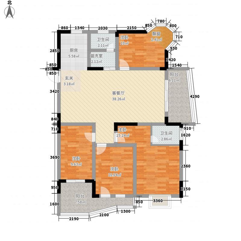 江南明珠15.40㎡户型4室2厅2卫