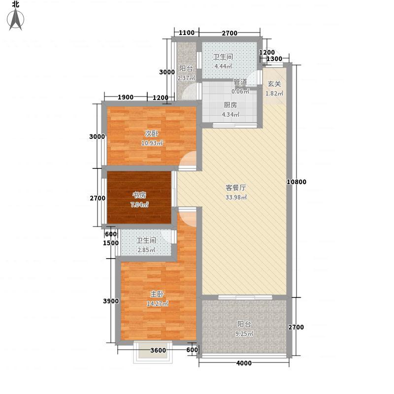 民邦・槐荫东岸118.00㎡C户型3室2厅2卫1厨