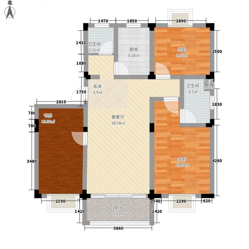 恒润河畔雅居户型3室