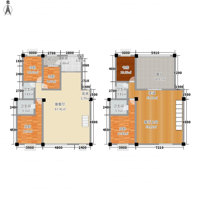 龙泽园227.30㎡D1-3户型5室2厅4卫1厨