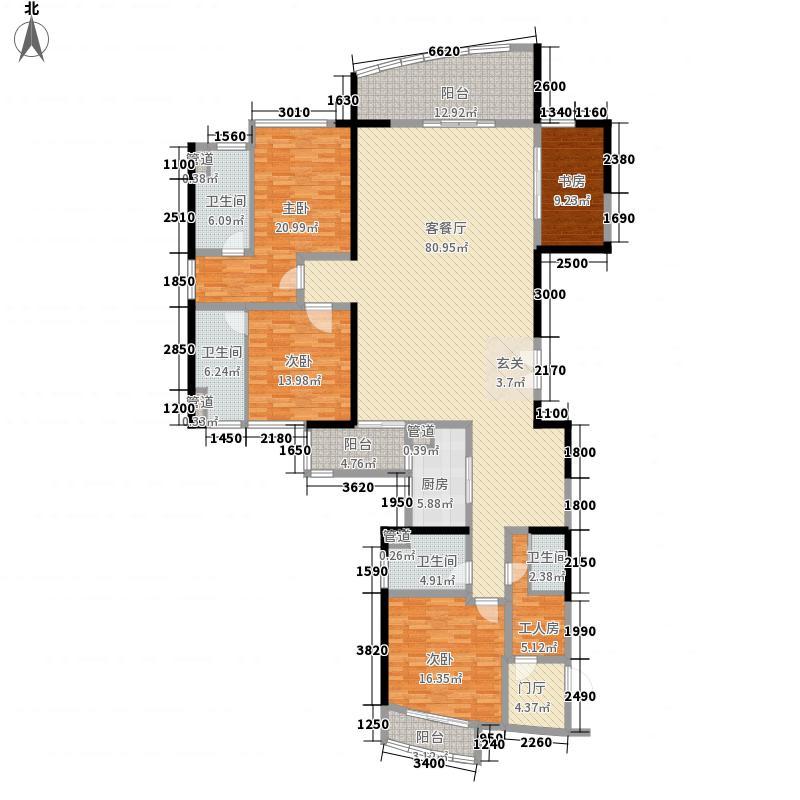 天誉半岛花园A6栋6A户型