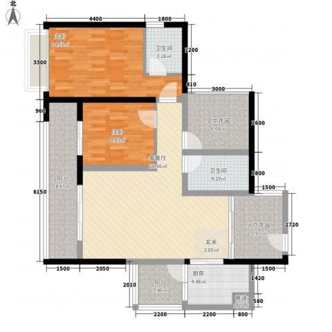 天湖御林湾2室1厅2卫1厨229.00㎡户型图