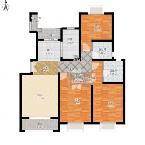 建邦16区3室1厅2卫1厨178.00㎡户型图