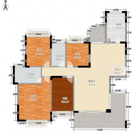 理工教师楼4室1厅2卫1厨165.00㎡户型图