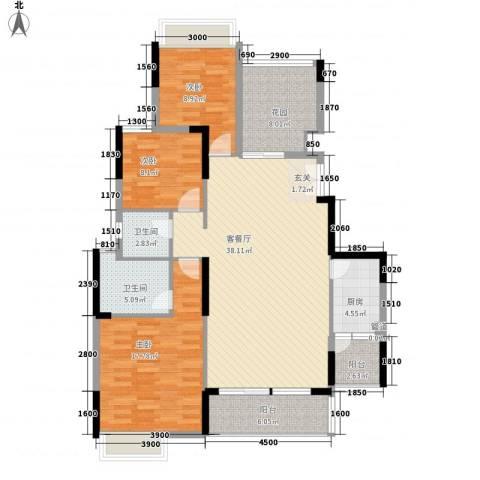 理工教师楼3室1厅2卫1厨165.00㎡户型图