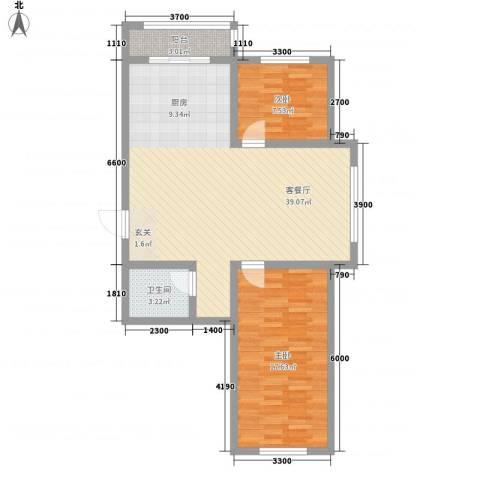 博达雅居2室1厅1卫0厨70.46㎡户型图