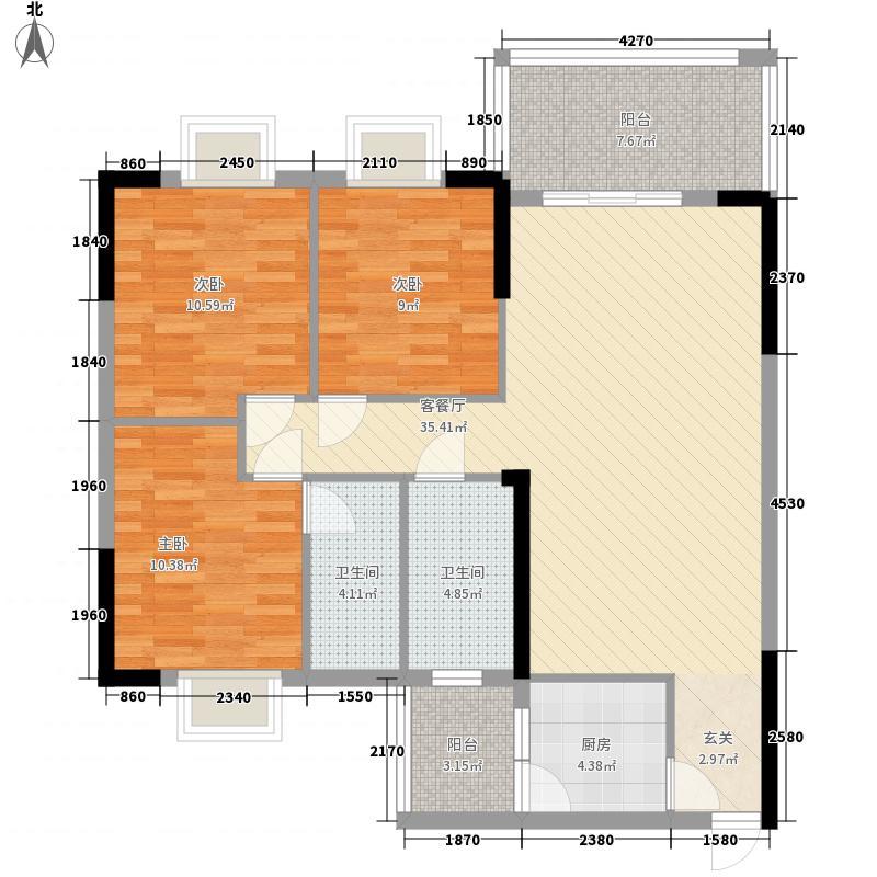 裕景华庭112.40㎡2#2单元2、5号户型3室2厅2卫1厨