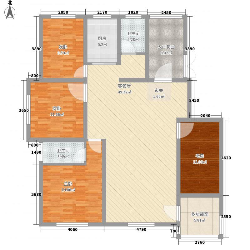 鼎盛・帕堤欧173.16㎡G户型4室2厅2卫1厨