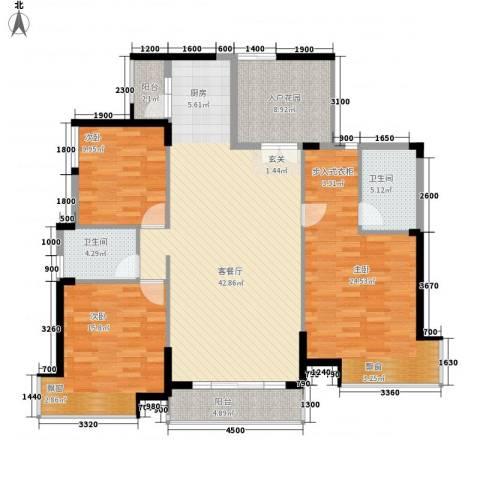 香市1号(寮步)3室1厅2卫0厨163.00㎡户型图