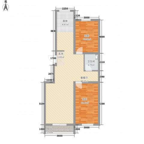 博达雅居2室1厅1卫0厨69.55㎡户型图
