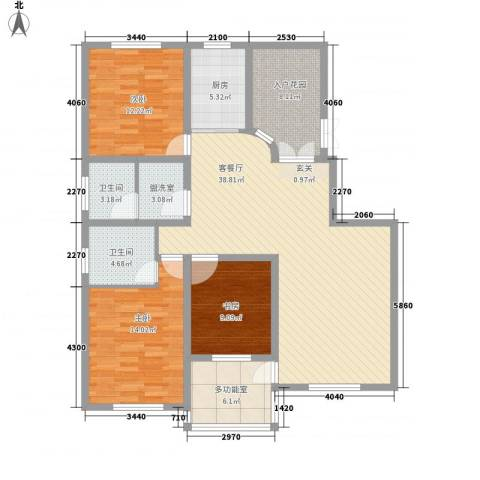 鼎盛・帕堤欧3室2厅2卫1厨104.59㎡户型图
