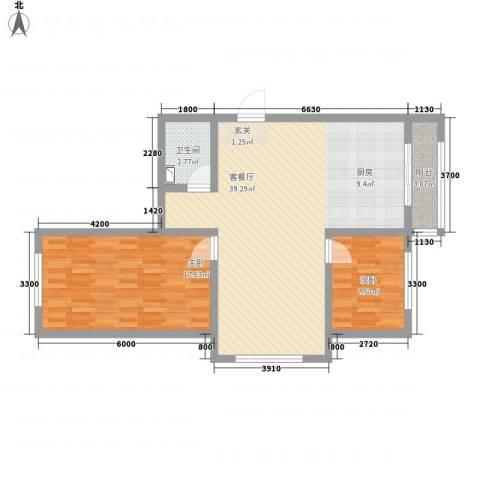博达雅居2室1厅1卫0厨70.51㎡户型图