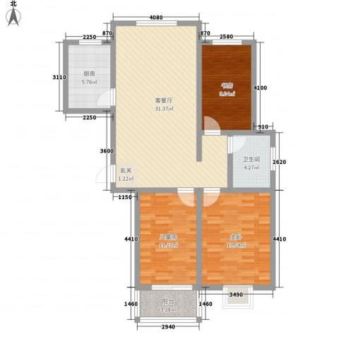 鼎盛・帕堤欧3室1厅1卫1厨113.00㎡户型图