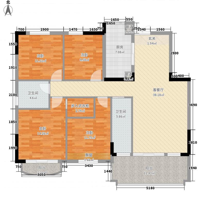 兴合・半山逸城F1花园洋房约13987-14597m2户型4室2厅2卫1厨
