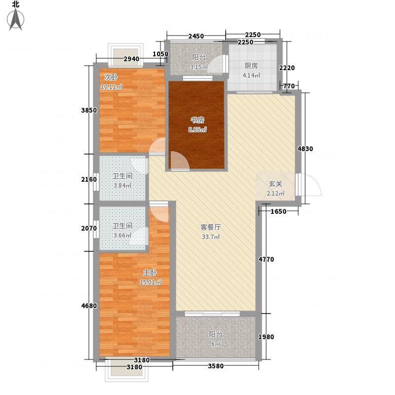 大地丽都3127.20㎡户型3室2厅2卫1厨