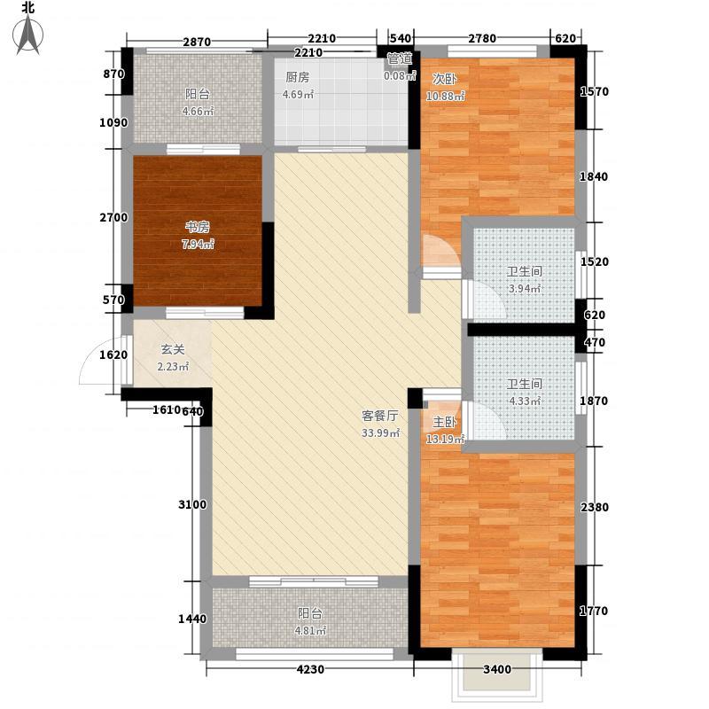 恒园・鸿景港湾2128.52㎡C2户型3室2厅2卫1厨