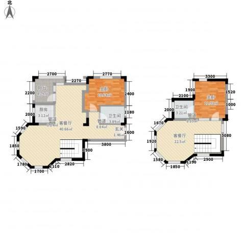 纳尼亚小镇2室2厅2卫1厨100.38㎡户型图