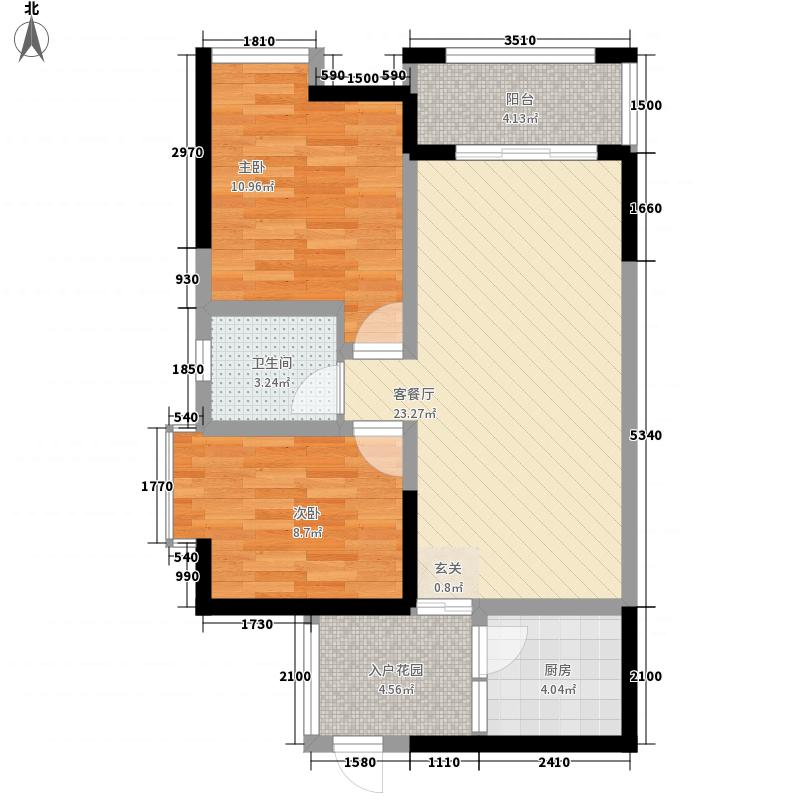 新泰国际77.23㎡A1户型2室2厅1卫1厨