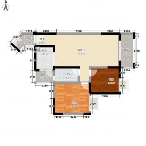 翰城国际2室1厅1卫1厨122188.00㎡户型图