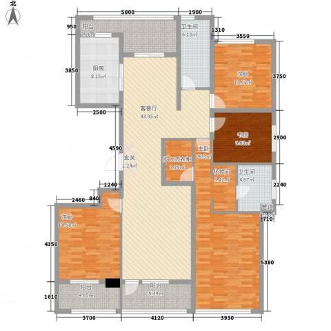绿城沈阳全运村4室1厅2卫1厨207.00㎡户型图