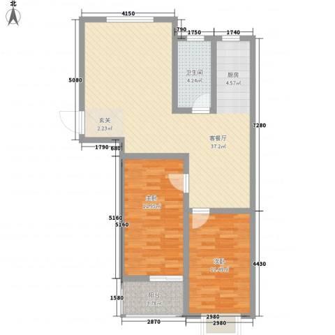 万宏俪城2室1厅1卫0厨69.65㎡户型图