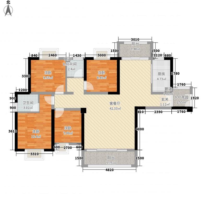 永丰鑫城2135.20㎡户型2室2厅2卫1厨