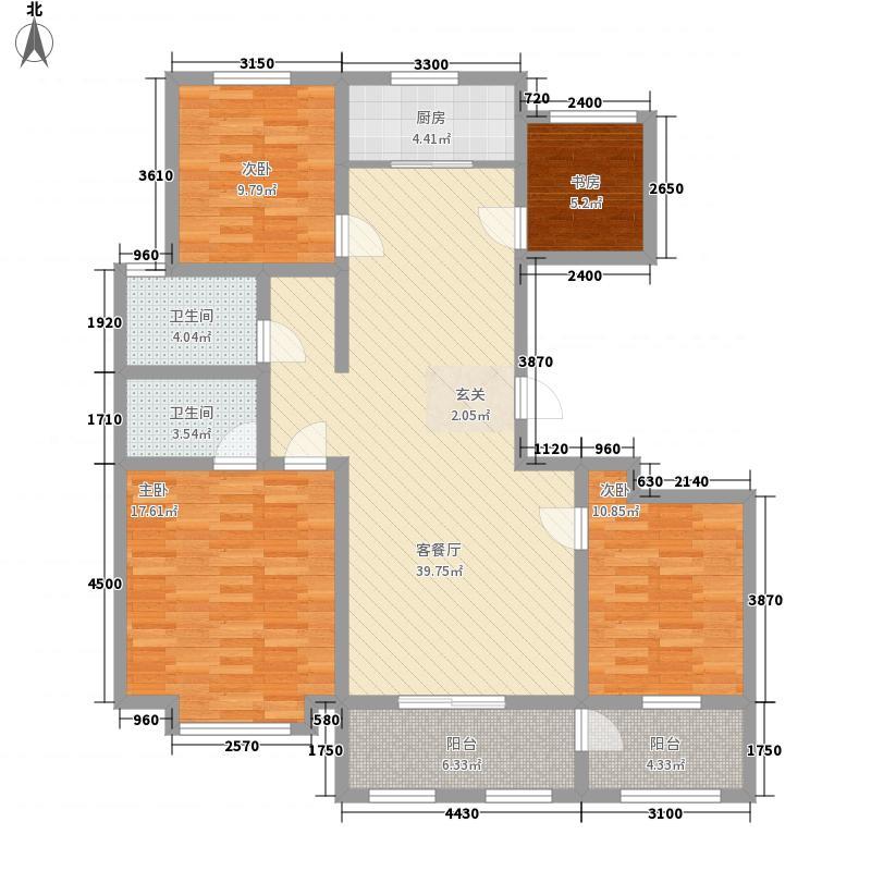 中安鸣翠苑152.00㎡I户型4室2厅2卫1厨