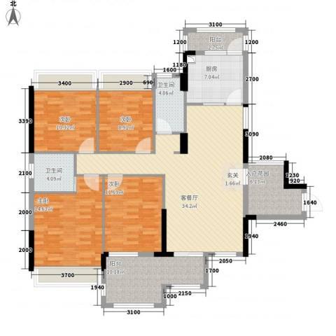大华・富贵世家4室1厅2卫1厨2144.00㎡户型图