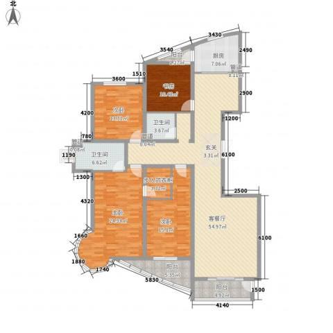建和公务嘉园4室1厅2卫1厨180.00㎡户型图