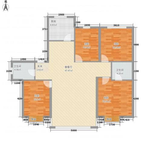金城福邸4室1厅2卫1厨146.00㎡户型图