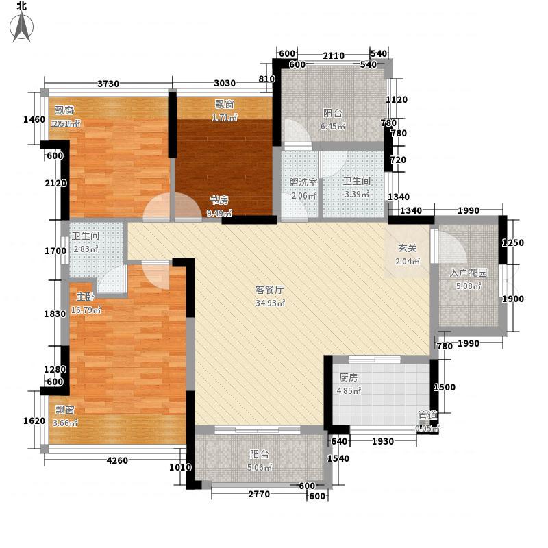 金钟・时代城11.50㎡K户型3室2厅2卫