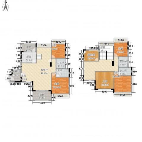 大华・富贵世家4室1厅4卫1厨190.40㎡户型图