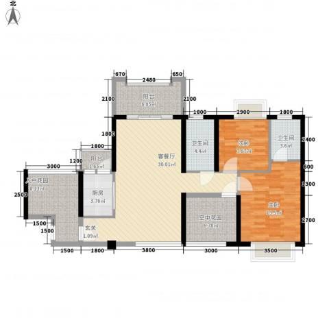 天湖御林湾2室1厅2卫1厨1112.00㎡户型图