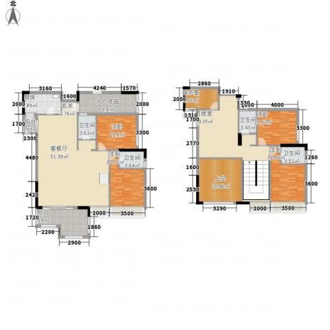 大华・富贵世家4室1厅4卫1厨198.56㎡户型图