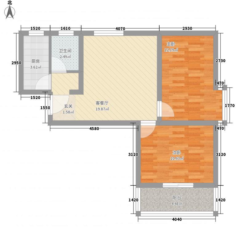 文博沁园绿洲78.00㎡户型2室